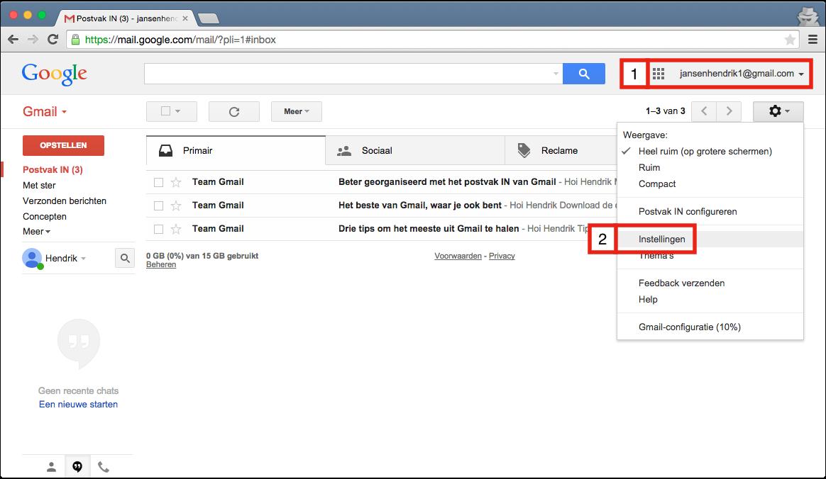 Gmail gebruiken om e-mail te lezen en te sturen – Helpdesk